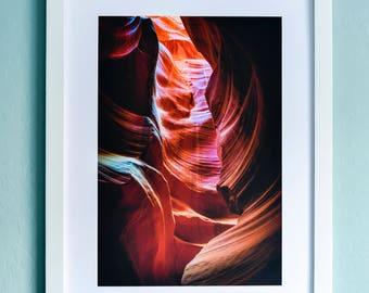 Antelope Canyon, Upper Antelope Canyon, Framed Prints, Framed Photographs, Nature Photography, Slot Canyon, Wall Art, Matted Photographs