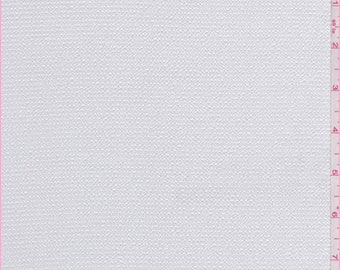 Soft White Hammered Satin Charmeuse, Fabric By The Yard