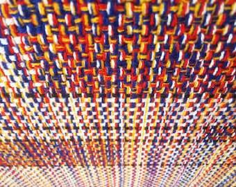 Lichtenstein's Comic | Woven Textile Art Panel Framed Hand Crafted Fibre Craft Wall Decor Lichtenstein Pop Weave Bespoke Unique