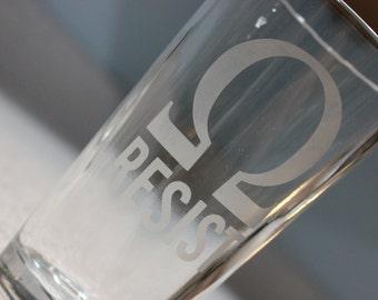 Geek Resist Pint Glass - Geek Resist Glass - Ohm Resist Pint Glass - March for science pint glass - March for science glass