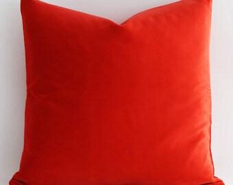 20x20 Christmas Red Pillow Cover, Red Velvet Pillow Cover, Bright Red, Red Velvet Pillow, Velvet Pillow, Modern Pillow decorative pillows