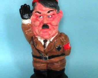 Adolf Hitler  Garden Gnome politically incorrect caricature figure.... bad taste gift item  (Gift Boxed) Limited Number Available