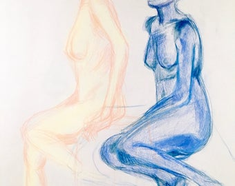 Warm & Cool Figure Drawing