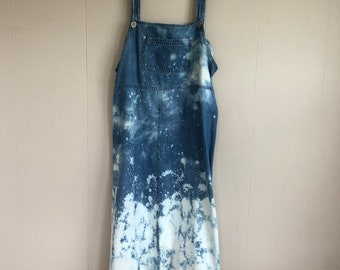Denim Splatter Maxi Dress