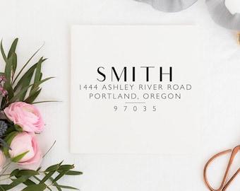 Custom Address Stamp - Return Address Stamp - Wedding Address Stamp - Minimal Address Stamp - Personalized Address Stamp  No.126