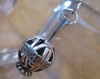 Sterling Silver Bracelet Charm, Moroccan INCENSE BURNER, Censer, Vintage 1960s