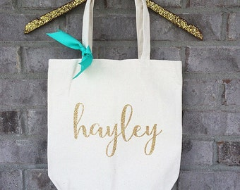Personalized Bridal Party Totes