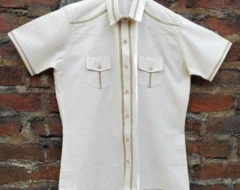 Cotton and Burlap Shirt