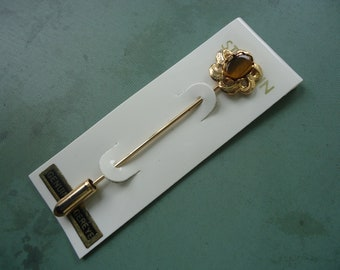 Genuine Tiger Eye Stick Pin
