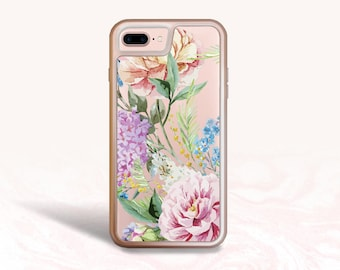 iPhone 8, iPhone 7 Protective Case, Colorful Floral Flowers Case for iPhone 7 Plus, iPhone 8 Plus, iPhone 6s Interchangeable backplate cases