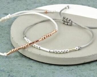 Morse Code 'Dream big' Bracelet