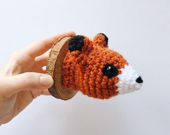 Fox Faux Taxidermy, Crocheted