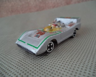 Toy race car, SM brand , Die Cast toy car , 1980's toy car , Vintage race car with driver