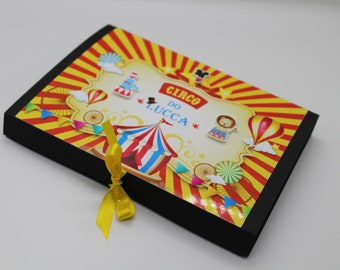 Mickey Circus Modeling Clay Favor Box, Modeling dough party box, Mickey Circus Box