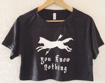 Jon Snow and Ygritte, You Know Nothing, Crop Top - inspired by Game of Thrones - Made in USA by So Effing Cute