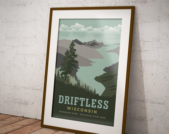 Driftless Region -  Wisconsin Poster