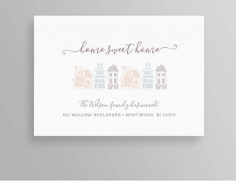 Moving Announcement, New Home Postcard, New Address, We've Moved, INSTANT DOWNLOAD, 100% Editable Template, Printable, Templett, DIY #065MA