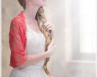 Hochzeit Korallen Lace Achselzucken mit 4 Optionen - Schal tragen, zucken Sie, Twist und Schal. Hochzeitssuite vertuschen Brautjungfern zuckt, Hochzeit Party Set DL130)