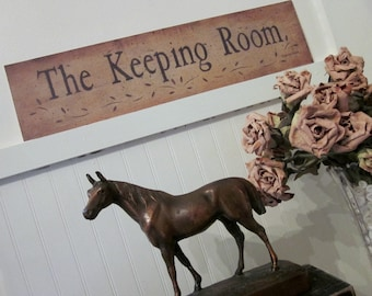 The Keeping Room, Rustic Folk Art Print by Donna Atkins, word print