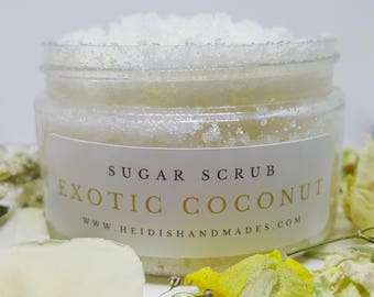 Exotic Coconut Sugar Scrub - Exotic Coconut Scrub - Natural Sugar Scrub