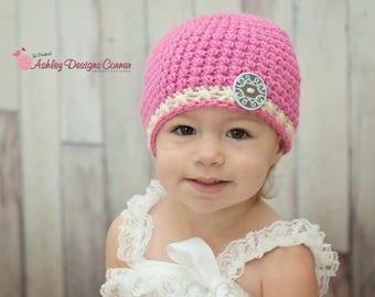 Crochet Pattern Harper Beanie (Newborn - Adult) - PDF - Instant Digital Download