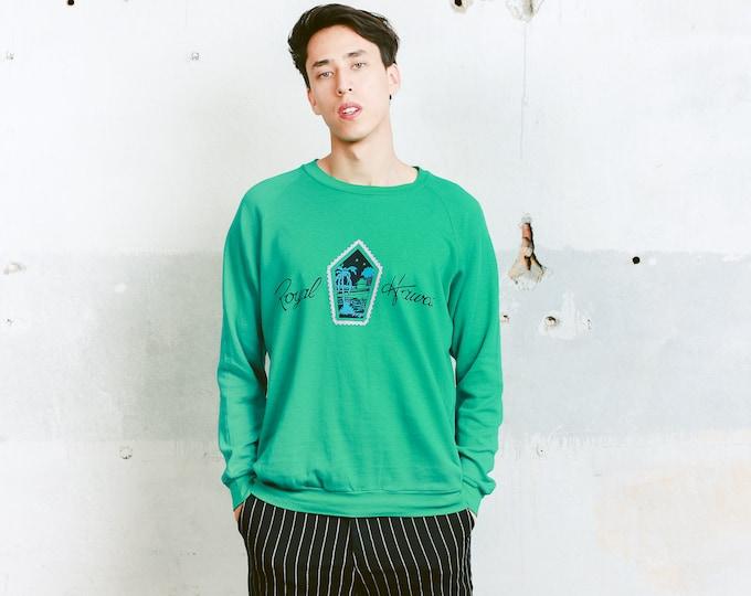 Men 90s Green Sweatshirt . Green Vintage Athleisure Sportswear 80s Golf Sweatshirt Green Sweatshirt Mens 90s Sports Jumper . size Medium M