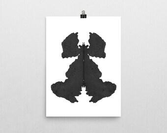 Psychologist Art Print Rorschach Ink Blot Art Vertical print no 4
