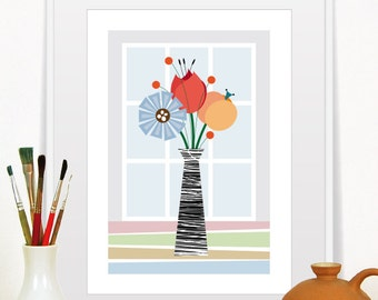 Floral Art Print, Floral Wall Art, Flower Decor Print, Flowers Print, nursery flower,  flowers wall art,  floral wall art,  flowers art