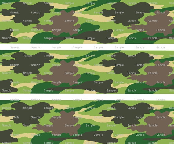 Woodland Camo - Birthday Background - Designer Strips - Edible Cake Side Toppers- Decorate The Sides of Your Cake! - D359