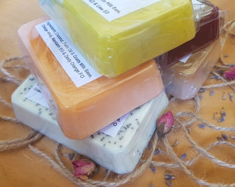 Hand-crafted Soap Bar. Beautiful Soap. Melt & Pour. Bath. Beauty. Shower. Escape. Relax.