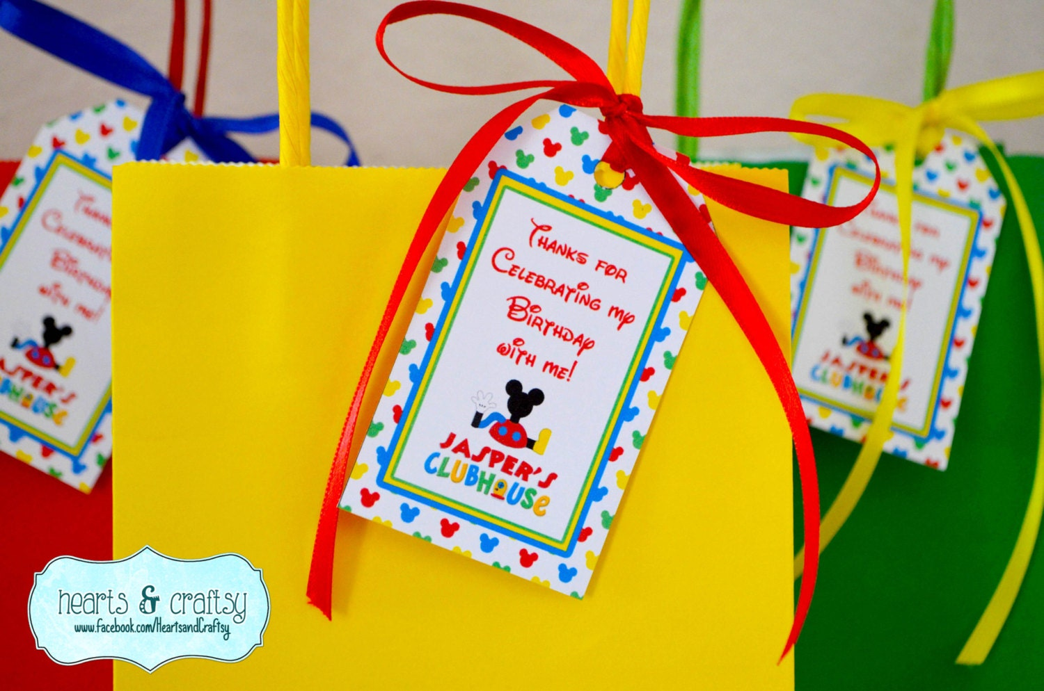 Mickey Mouse Clubhouse Party Favor Tags Set of 16 / Goodie