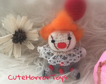 knitted  Pennywise  handmade toys