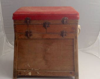 French Vintage Fishing Box Fishing Tackle Box Fishing Seat Lay By Available ( Ref no. A115 )