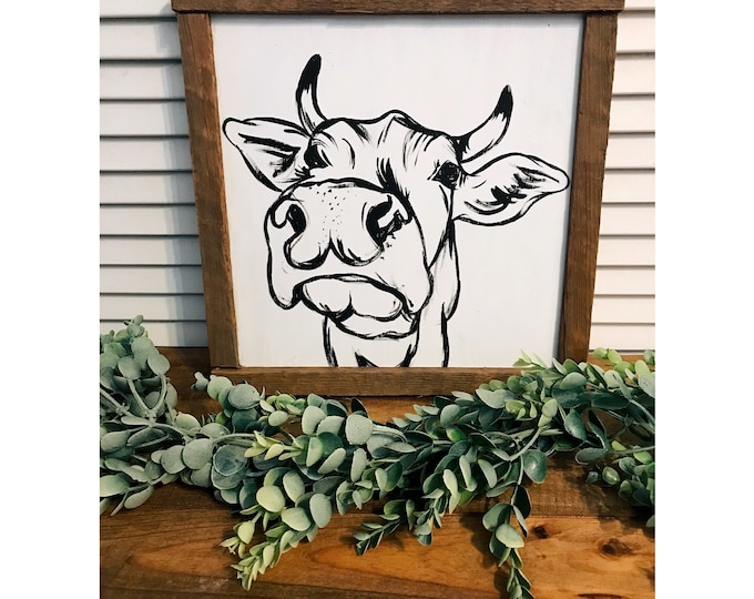 Farmhouse Style - Cow Painting.