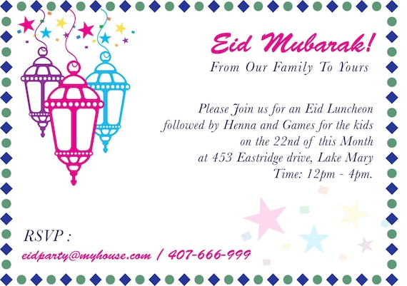 Eid party invitation eid mela islamic events mosque fund stopboris Image collections
