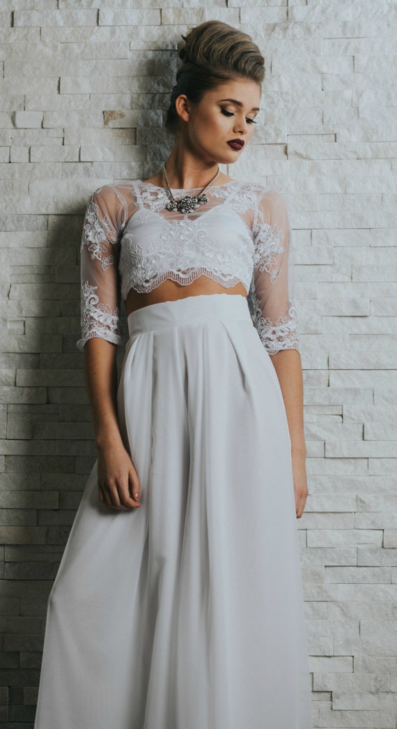 Wedding dress Cropped Top Wedding Dress Wedding pants
