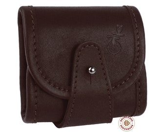 Leather Ammo Pouch, Rifle Shell Holder .300 .30 cal, Leather Cartridge Holder Belt Case, Hunting Rifle Case