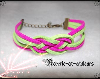 "Bracelet suede sailor knot ""joyful"""