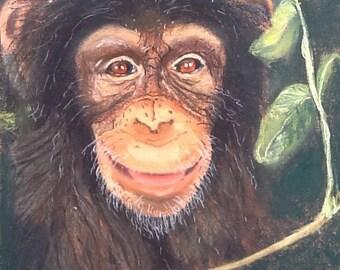 Cheeky Chimp Greetings Card