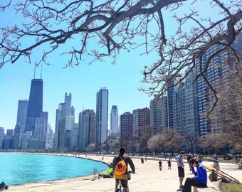 North Avenue Beach, Lakefront Chicago, Chicago Beach, Chicago Skyline, Summer in The City, Chicago Photography, Chicago Wall Art, Prints