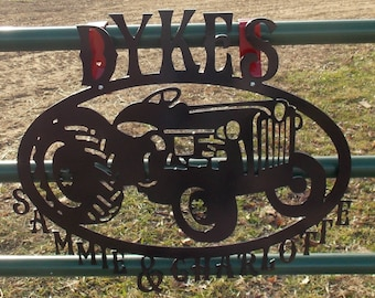 Old Ford Tractor Sign with Name