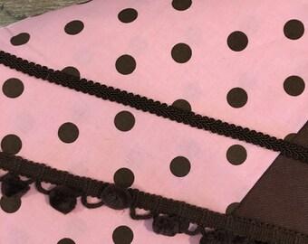 Large Pink & Brown Lap Desk