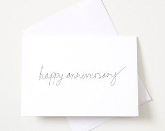 Greeting Card - Script / Happy Anniversary