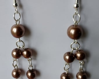 Bronze pearls on double chain