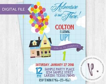 Up Invitations, Balloons