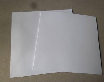 card 8 x 8 white envelopes luxury double 15 x 15 cm/16 x 16 cm