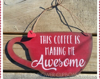 AWESOME COFFEE Plaque