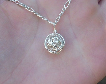 Silver Wire Knot Necklace