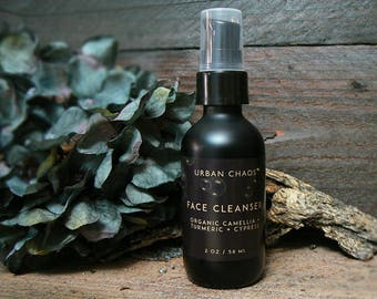 Oil Cleanser - Acne Face Wash with Turmeric & Cypress Oil, Vegan Skincare, Oily Skin Cleanser, Facial Cleaning Oil for Teens, Men and Women