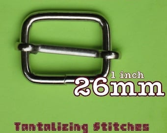 26mm / 1 inch Slides in Nickel or Antique Brass Finish - Choose from 230, 600, and 1500 pieces